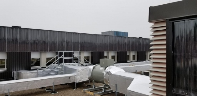 Installation of SolarWall® Two-Stage System
